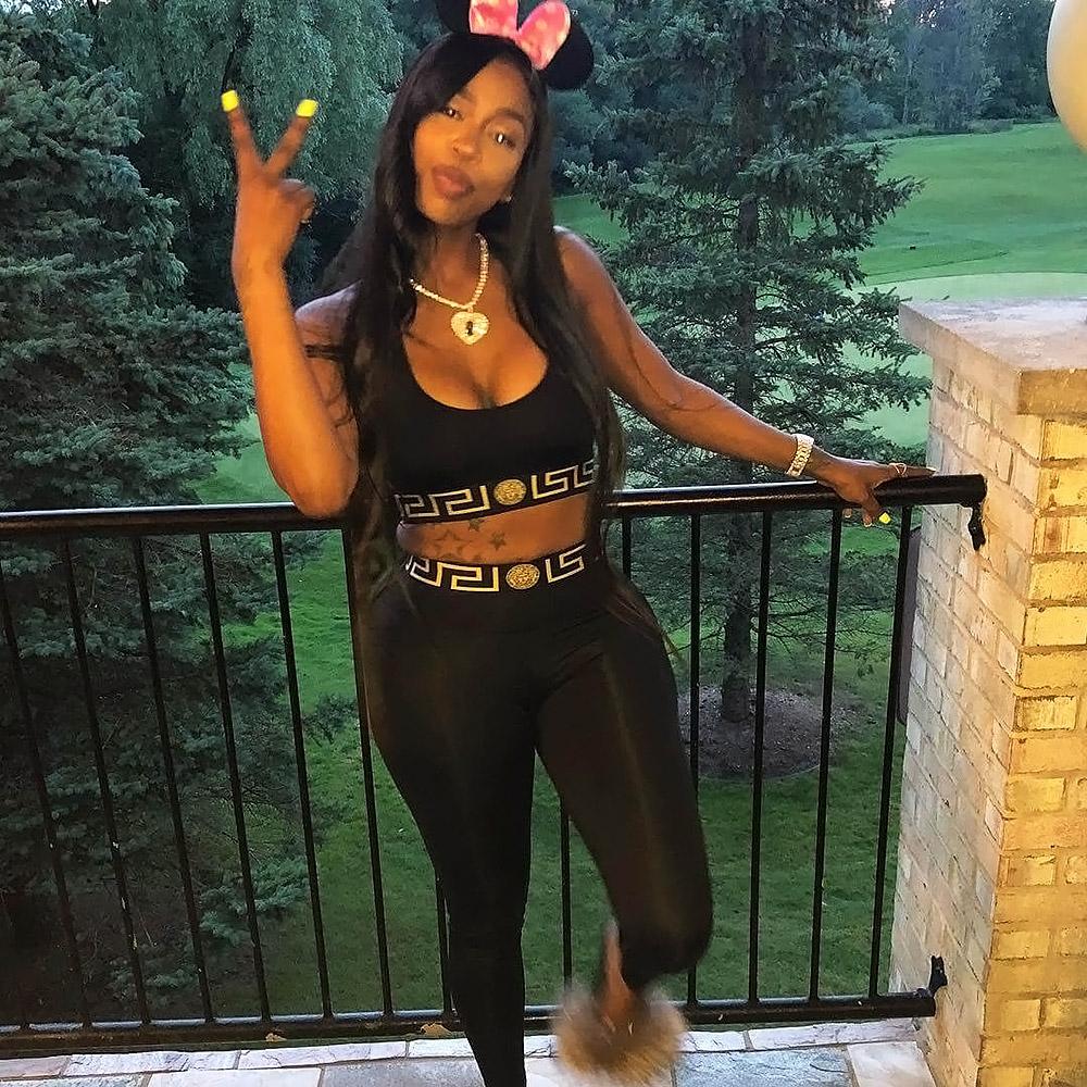 Kash Doll black leggings