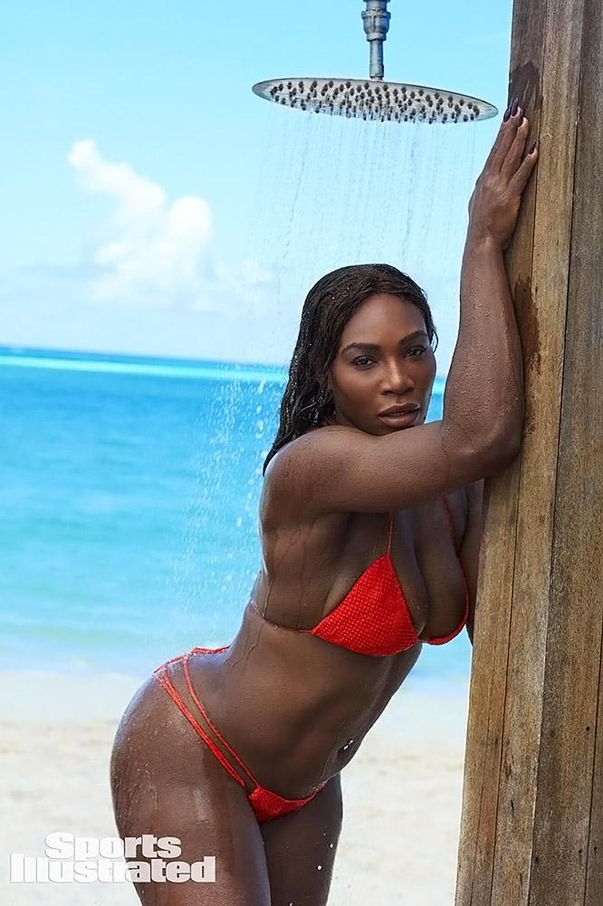 Serena Williams wet