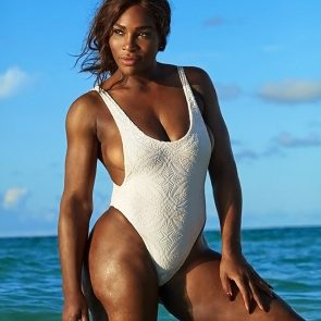 Serena Williams white swimsuit
