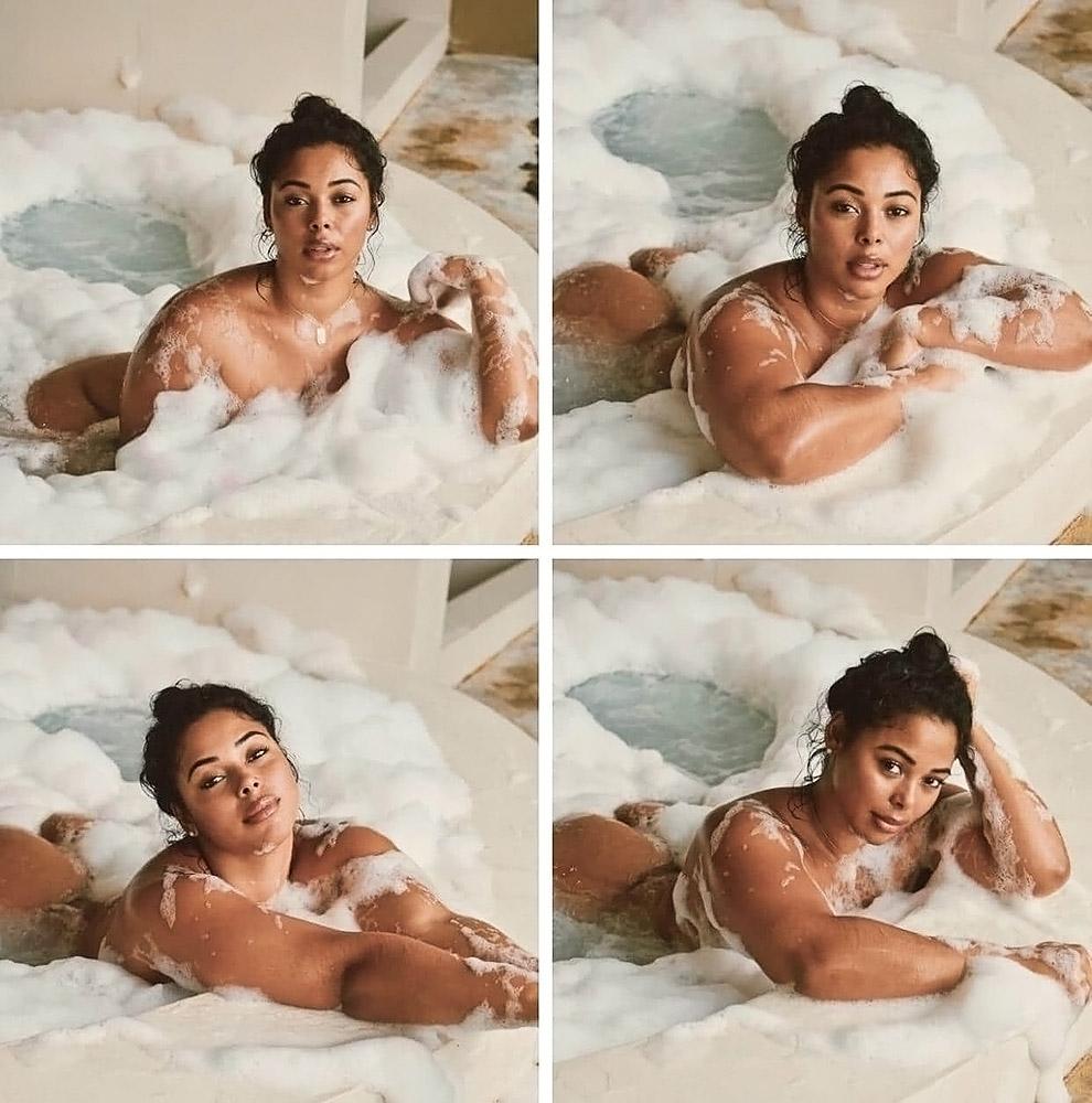 Tabria Majors naked in bathtub