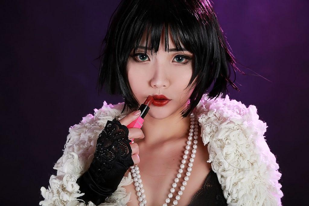 Hana Bunny black lingerie