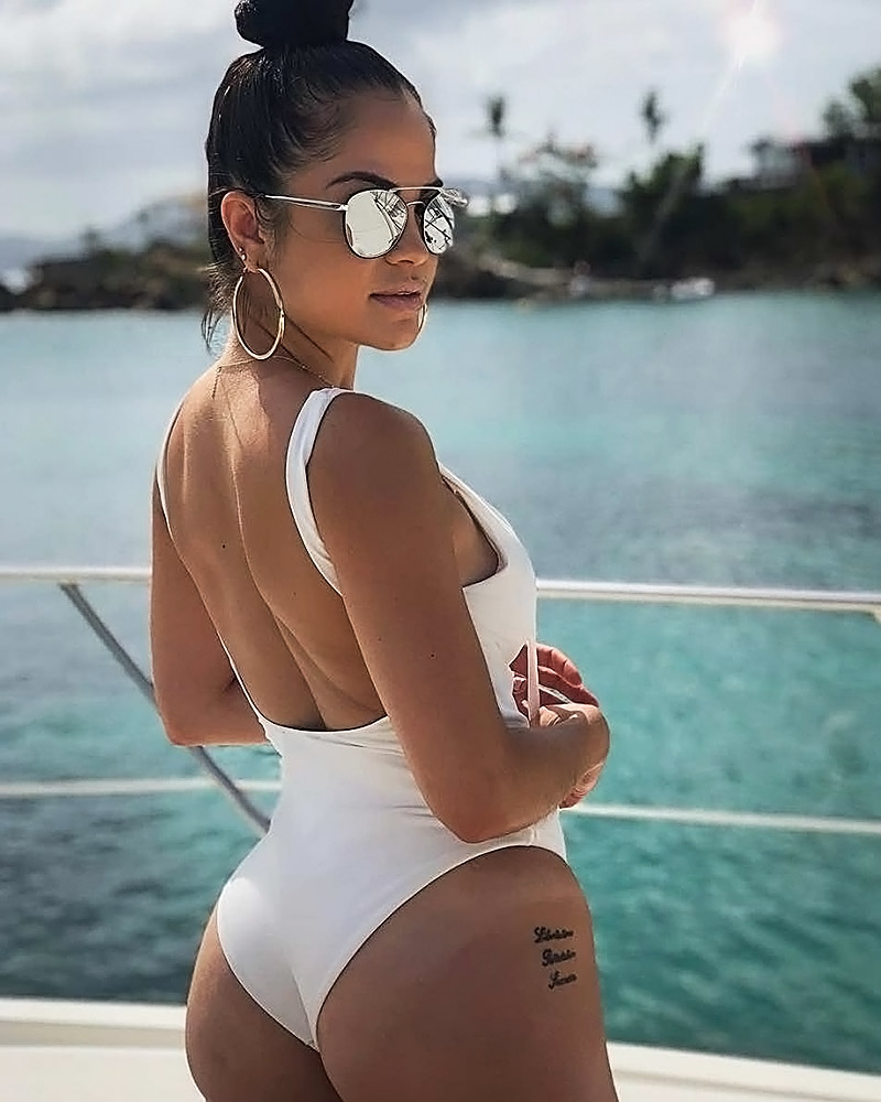Natti Natasha swimwear