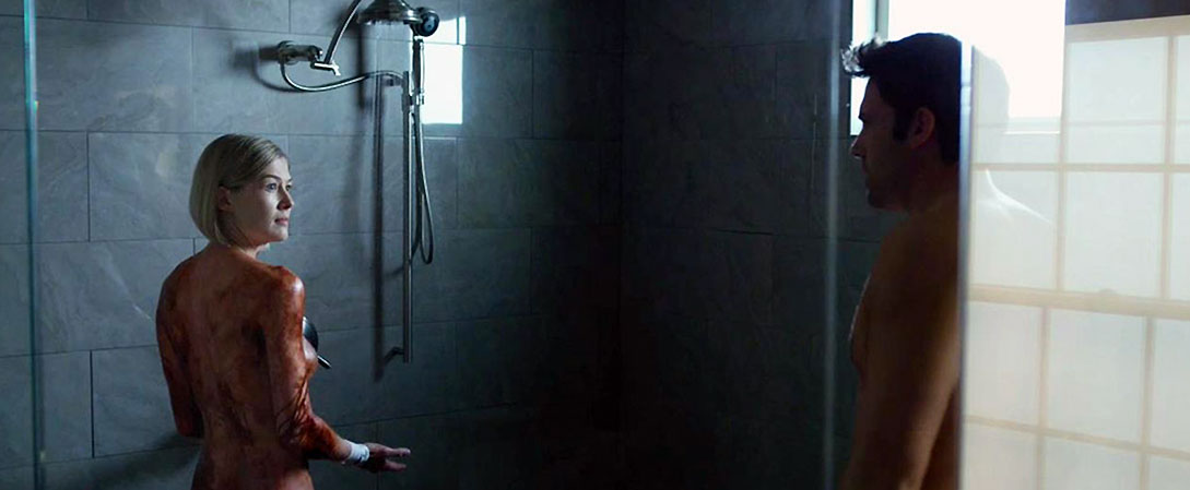 Rosamund Pike nude in shower