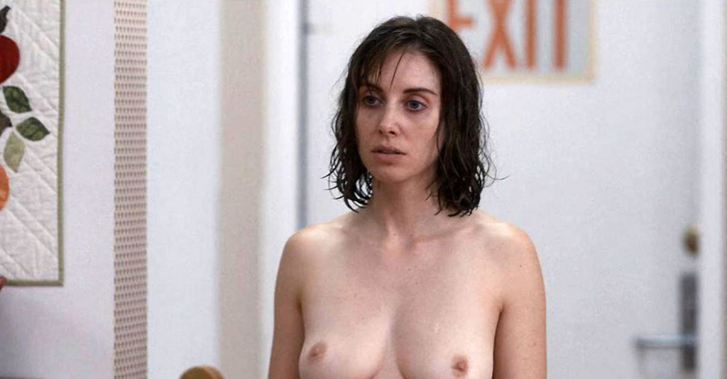 Alison Brie nude in a store