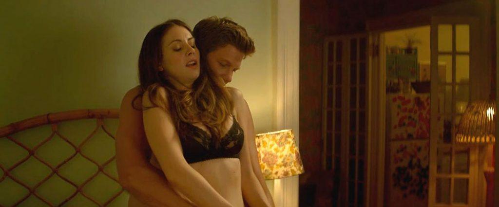 Alison Brie nude black bra