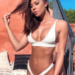 Masha Diduk nude white bikini