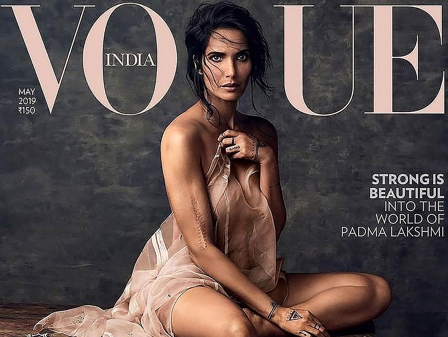 Padma Lakshmi nude for vouge