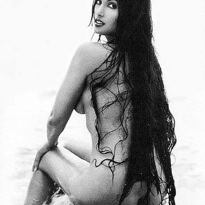 Padma Lakshmi nude from behind