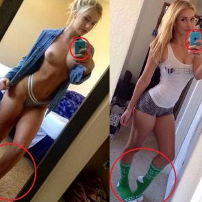 Paige Spiranac nude selfie proof