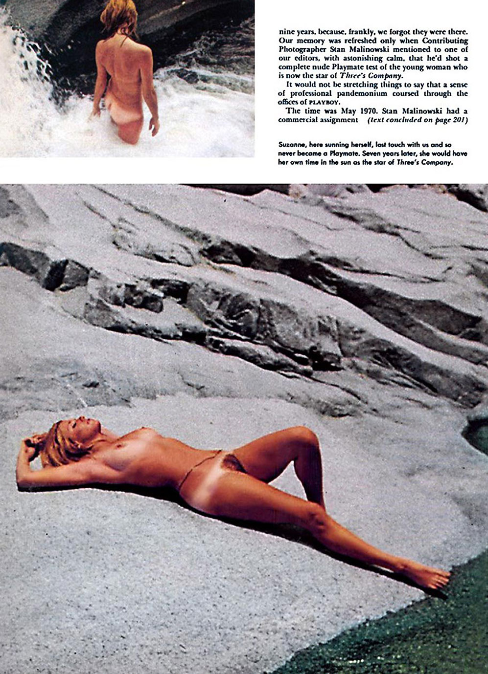 Suzanne Somers nude on the beach