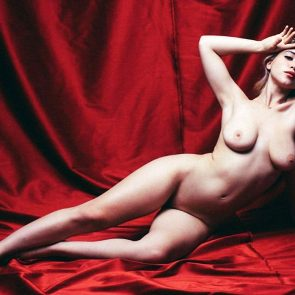 Caylee Cowan nude on red