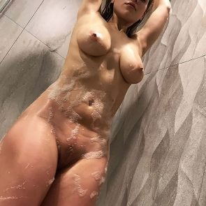 Caylee Cowan nude big tits in the shower