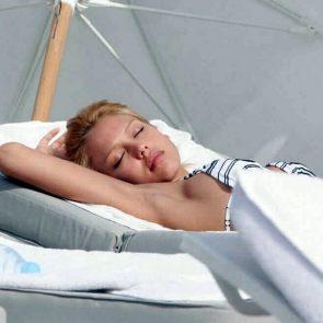 Jessica Alba nude swimsuite sunbathing