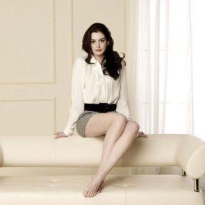 Anne Hathaway feet
