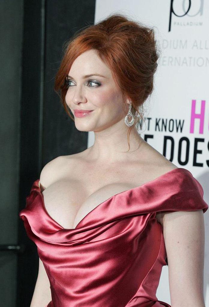 Christina Hendricks cleavage