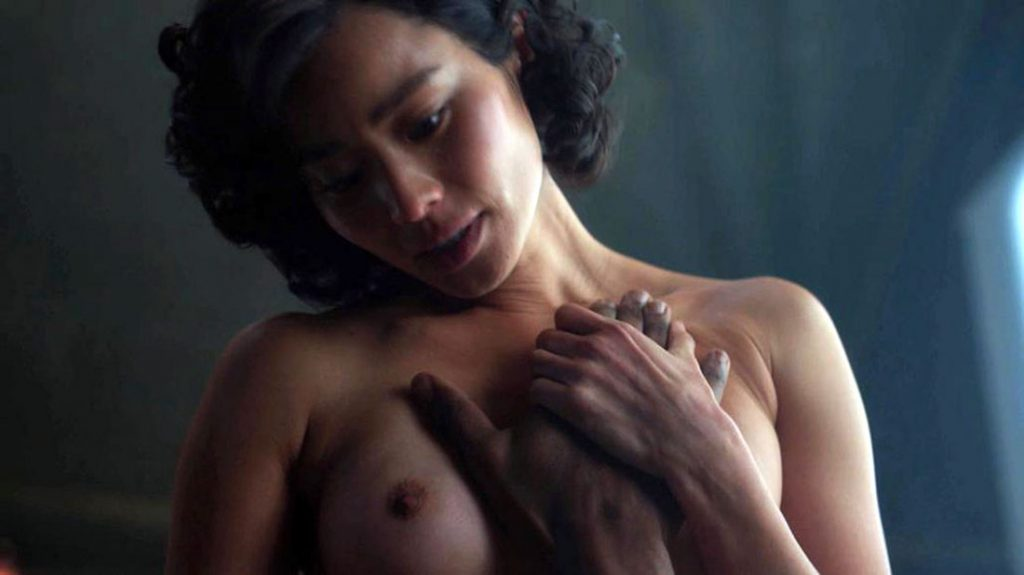 Jamie Chung nude tits in movie scene
