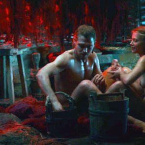 Jeanne Goursaud nude in movie sex scene