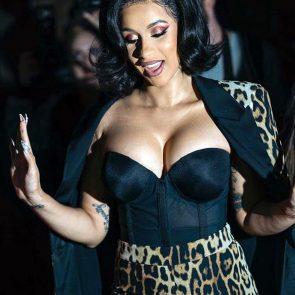 Cardi B cleavage