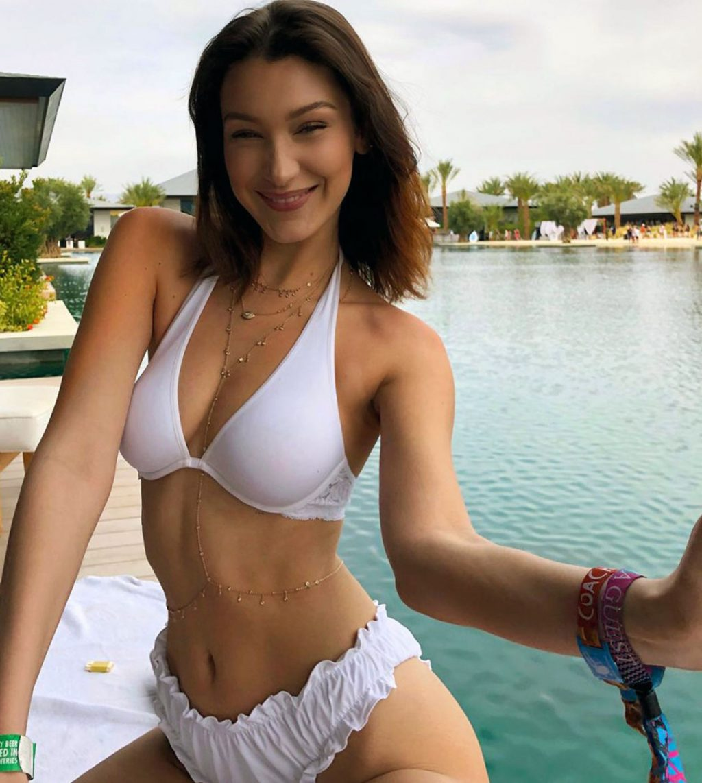 Bella Hadid cleavage