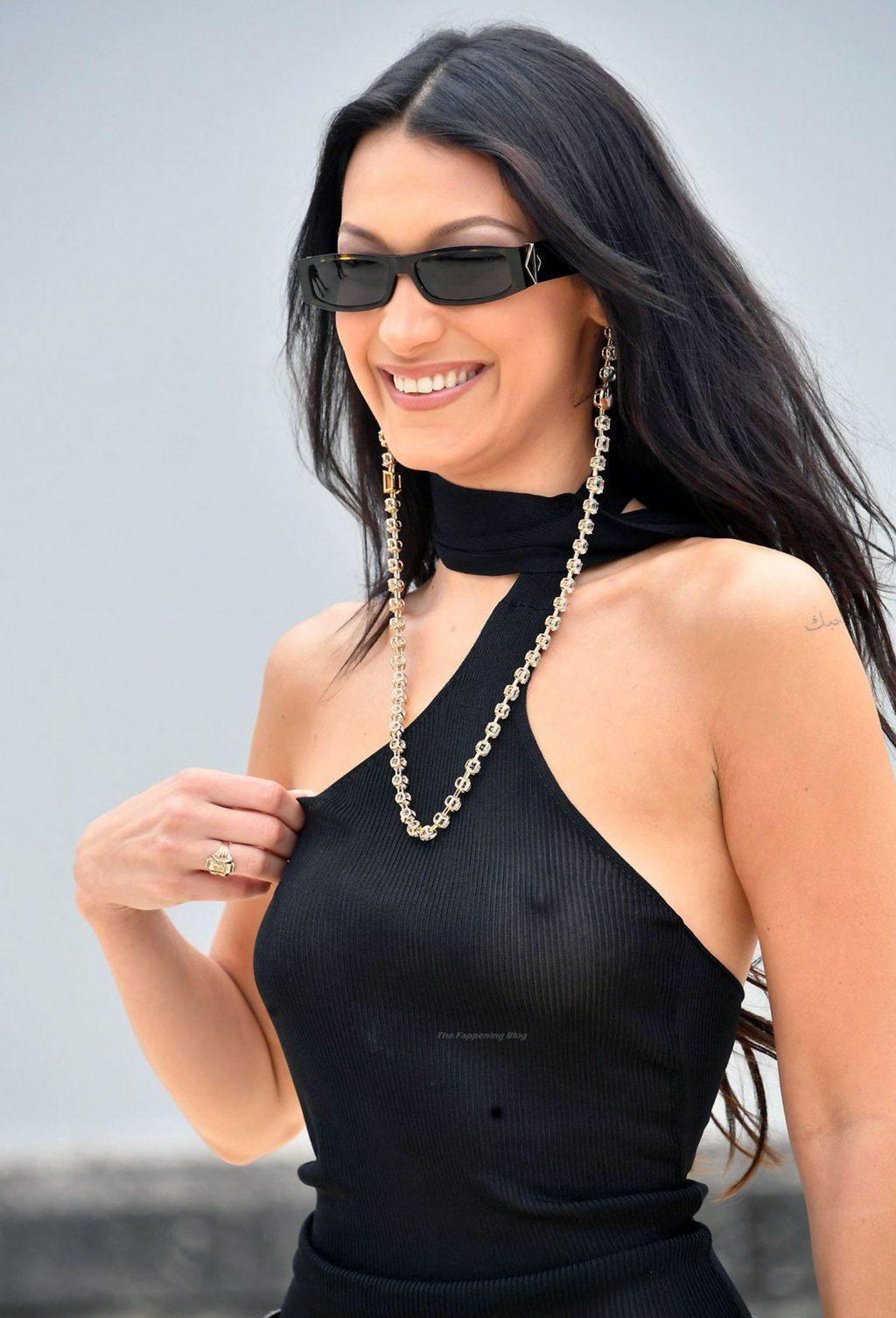 Bella Hadid nipples