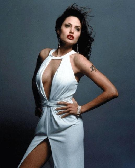 Angelina Jolie cleavage
