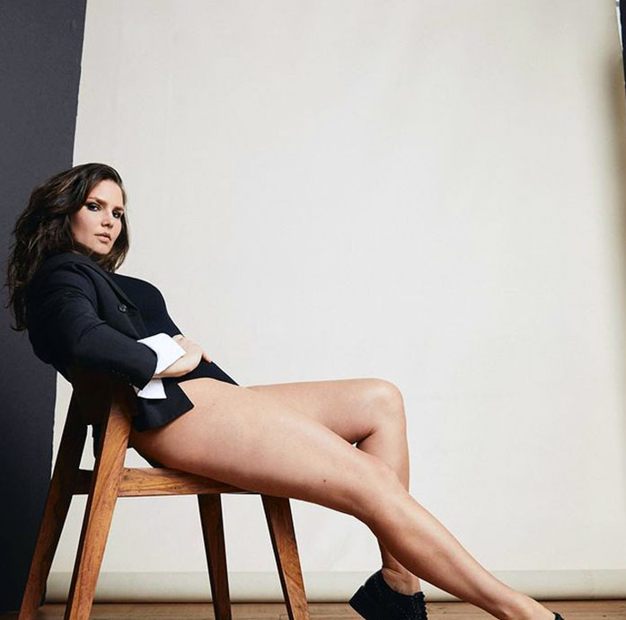 Candice Huffine legs