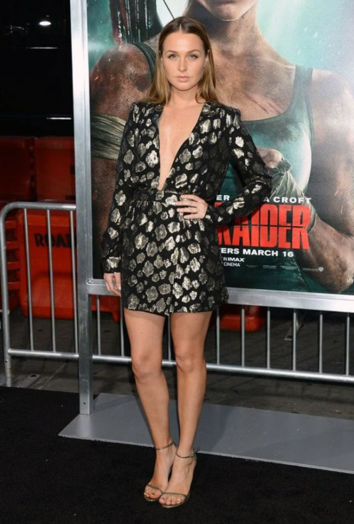Camilla Luddington cleavage